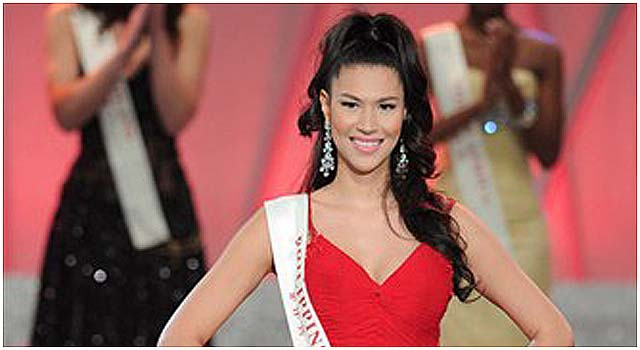 Towering Pinay beauty thrills countrymen with her Miss ...