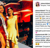 The Filipino communities and even other nationalities around the world celebrate the victory of Catriona Gray as Miss Universe 2018 and one of the happiest for the success of Catriona is Miss Universe 2015 Pia Wurtzbach. Pia personally attended the grand coronation of Miss Universe […]